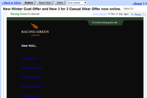 Racing Green email